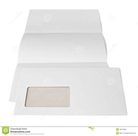 Business Letter Format For Window Envelopes Letter And Envelope Stock Photography Image 18270982