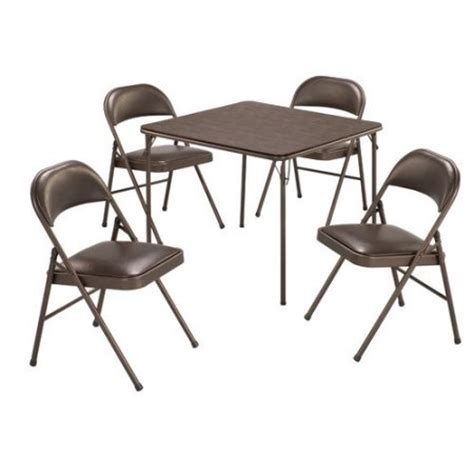 Card Table Chairs by Meco 5 Vinyl Card Table Set Walmart