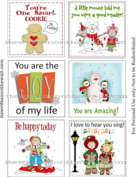 printable christmas notes 6 best images of christmas lunch notes printable free