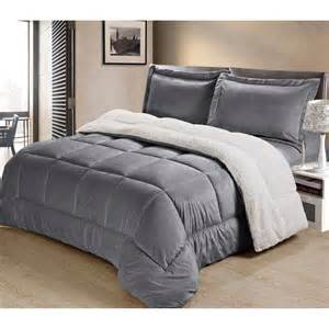 Faux Mink Comforter Set Ultra Mink Faux Fur And Sherpa 3 Piece Comforter Set Ebay