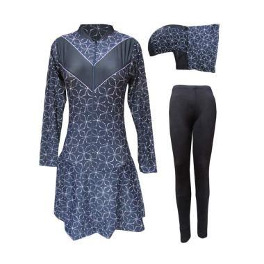 Baju Renang Muslim Wanita Jumbo 5l jual rainy collections motif batik baju renang muslim dewasa hitam jumbo harga