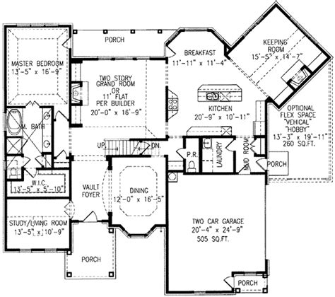 House Plans With Keeping Rooms | home plan with angled keeping room 15783ge 1st floor