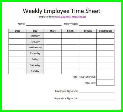 10 free printable bi weekly time sheets | supplyletter