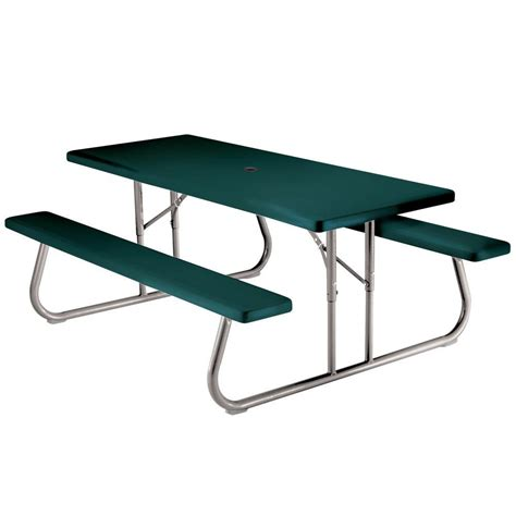 home depot picnic table lifetime 6 ft green picnic table 2123 the home depot