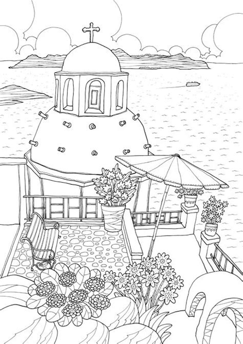 Greece Travel Coloring Book 7688 best images about coloring pages on