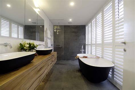 Finished Bathroom Ideas by Matte Black Amiata Bath Wins The Block Master Ensuite