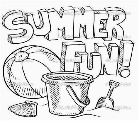 Summer Coloring Sheets Free Coloring Sheet Summer Coloring Pages Printable