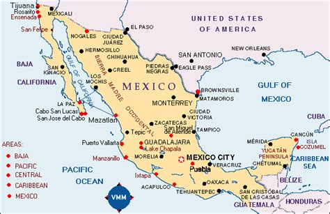 map mexico airports american tour association mexico mileage