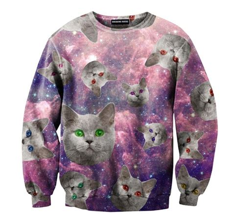 Cat Sweaters - evil cat in space sweater clothing cats
