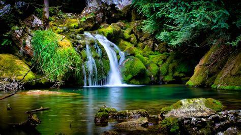 serene desktop waterfall wallpaper hd wallpapers