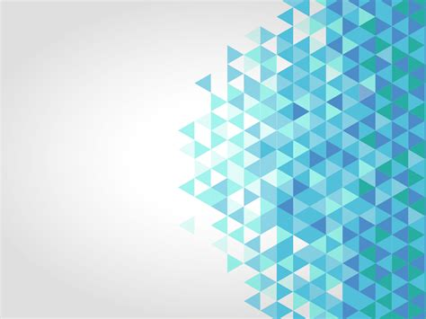 Green Gray Color by Blue Polygonal Ppt Backgrounds Abstract Blue Templates