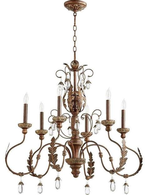mediterranean chandelier quorum lighting 6444 6 venice chandelier mediterranean