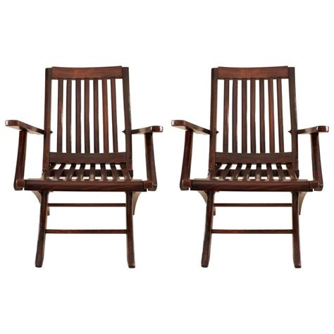 Rosewood Chairs For Sale by Pair Of Rosewood Steamer Deck Chairs For Sale At 1stdibs
