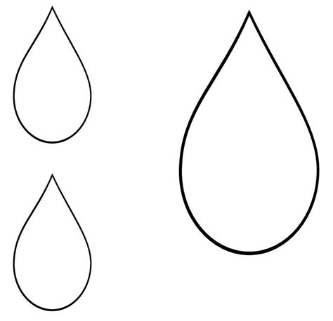 raindrop template with lines teardrop clip cliparts co