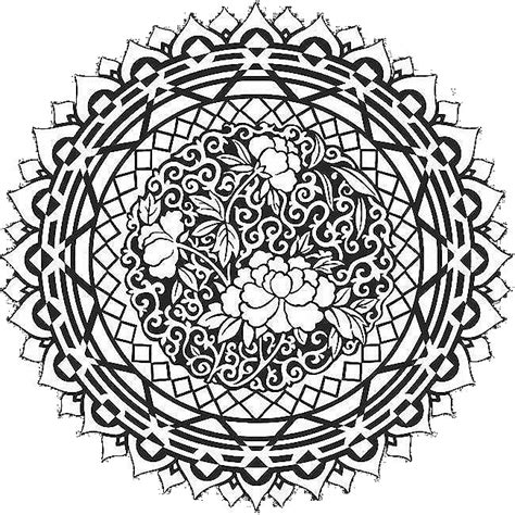 mandala abstract art coloring pages free colouring pages