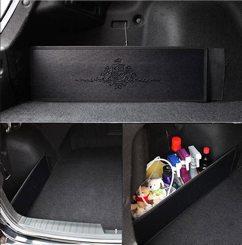 car trunk side organizer storage backseat slim side pocket
