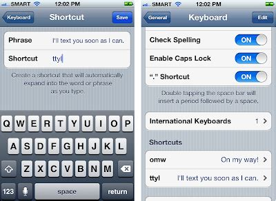 iphone keyboard shortcuts how to configure keyboard settings in iphone 4s iphone and tricks