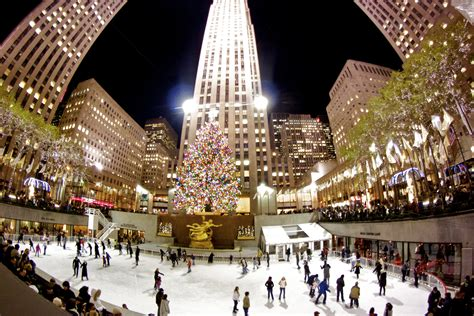 the ice skating rink at rockefeller center opens next week