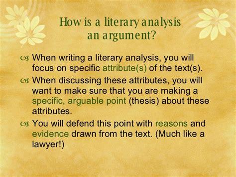 A Literary writing a literary analysis
