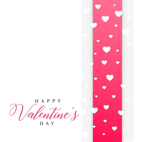 valentines day templates clean s day greeting template with hearts
