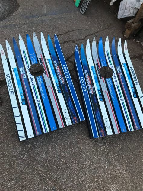 ski cornhole sets  ultimate  backyard fun premium
