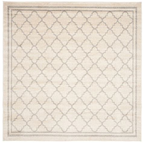 5 ft square rug safavieh amherst beige light gray 5 ft x 5 ft indoor outdoor square area rug amt422e 5sq the