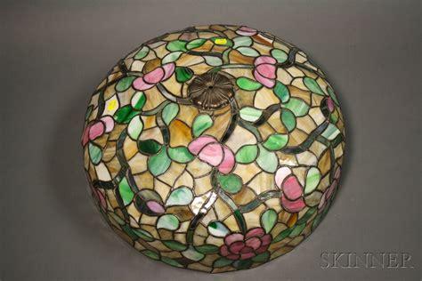 Mosaic Glass Table L by Mosaic Glass Table L Attributed To Chicago Mosaic Shade