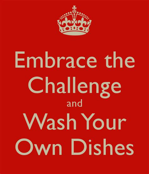 wash your own embrace the challenge and wash your own dishes poster tarja keep calm o matic