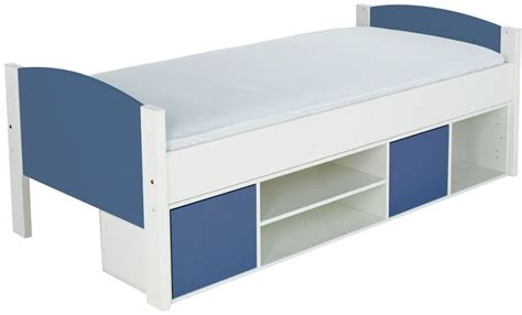 Stompa Bed Shelf by Buy Stompa Storage Cabin Bed With Blue Headboard And Doors