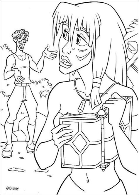 princess kida coloring page milo thatch coloring pages hellokids com