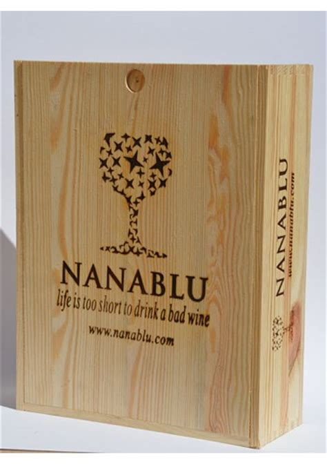 cassetta in legno per vino cassetta legno per vino da 3 bottiglie nanablu