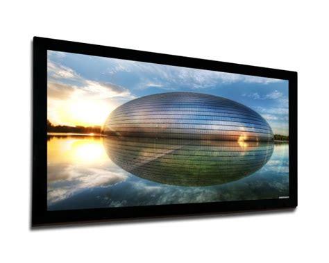 Fixed Frame Screen 133 Inci White Jk custom made fixed frame screen curved projection screen wall mount