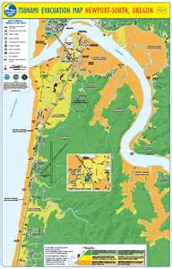oregon tsunami evacuation maps newport s new tsunami evacuation zone maps been