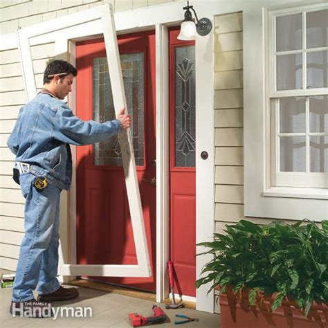 how to install new front door door replacement the family handyman