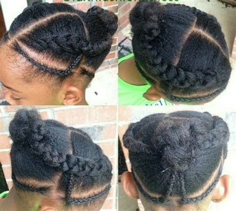 Simple Cornrow Hairstyles by Simple Cornrows Style Buns