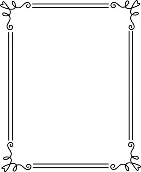 clipart borders frame clipart pencil and in color frame clipart