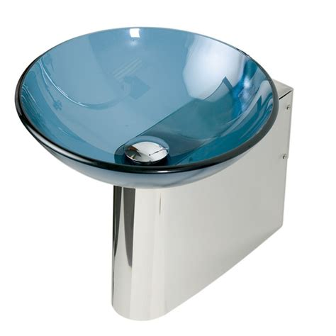 Decolav Pedestal Sink shop decolav wall mounts 11 875 in h polished stainless
