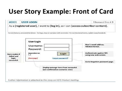 agile story card template introducing agile user stories
