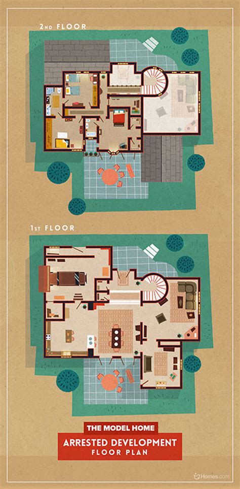 floor plans of tv show houses home floor plans of famous tv shows fubiz media