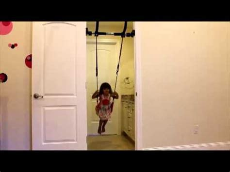 toddler door swing gorilla gym children s swing youtube