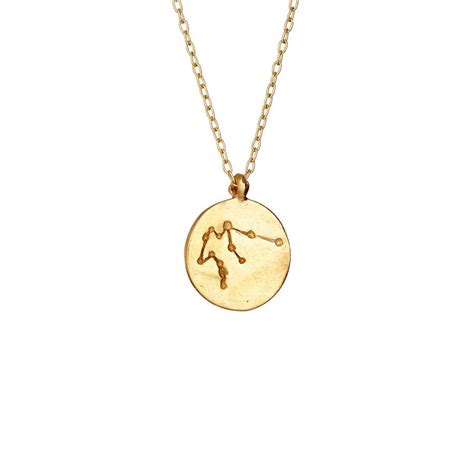 we are all made of aquarius necklace gold by chupi