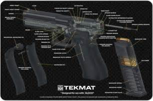 How To Clean Kitchen Cabinet glock 17 9mm pistol cut away tekmat gun mats uk