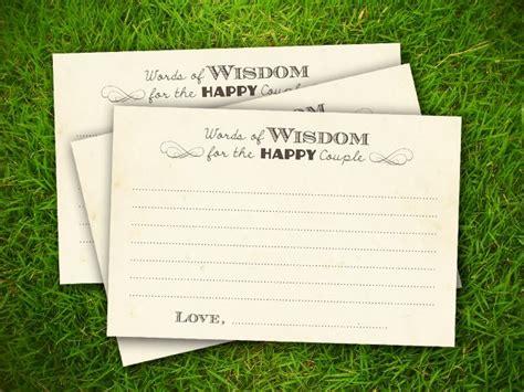 bridal advice card templates   template