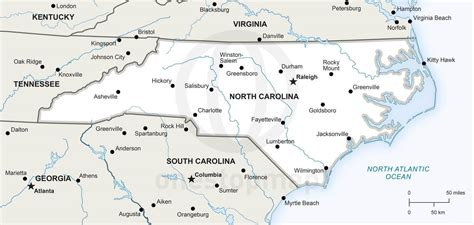 carolina cities map map of carolina with cities swimnova