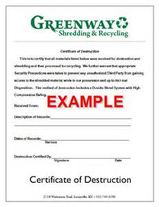 certificate of recycling template customized shredding solutions greenway shredding