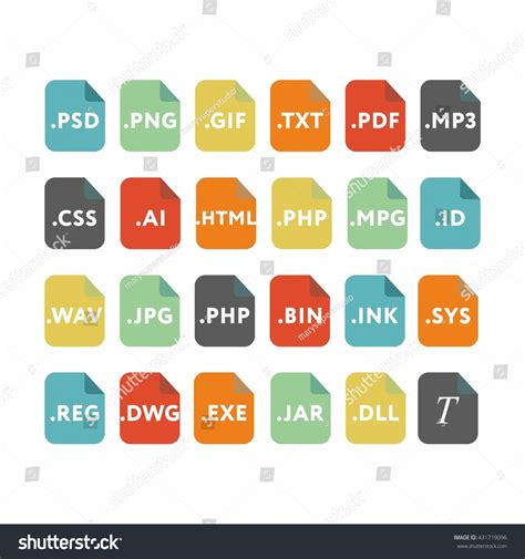 eps format compression code file formats script type icons stock vector 431719096