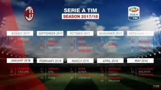Calendario 2018 Serie A Calendario Milan Serie A 2017 2018 Ecco Tutte Le Giornate