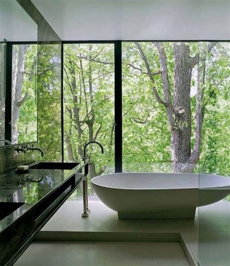 bathroom ideas with tub looking at a view natural bathrooms view