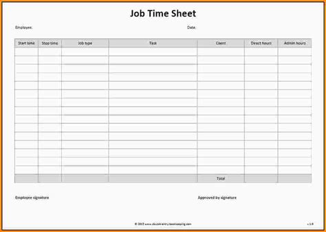 Employee Time Sheet Template by Employee Time Sheet Template Aiyin Template Source