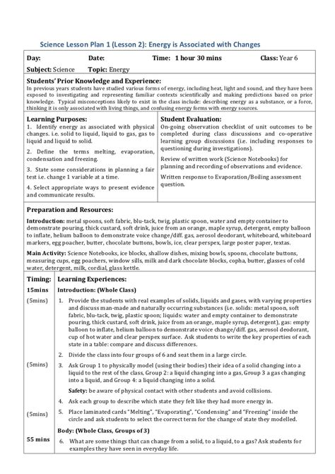 Lesson Plans For Grade 4 Science Detailed Lesson Plan In Science And Health Grade 3 Sense Science Lesson Plan Template